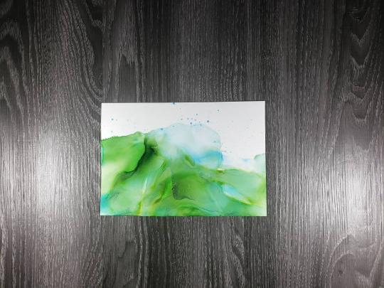 Green abstract landscape art