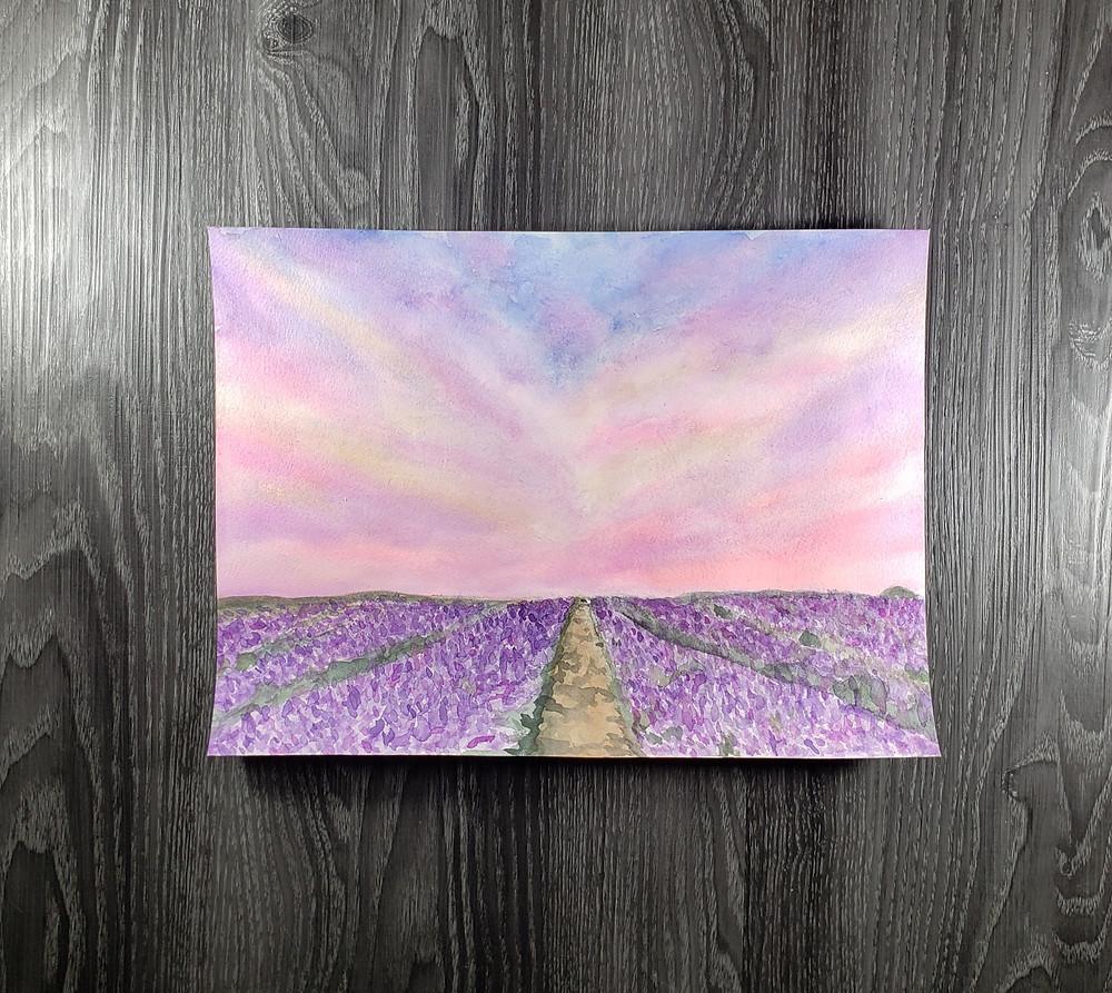 Landscape art Pink