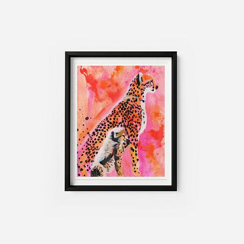 Cheetah - Oil on paper - 9x12