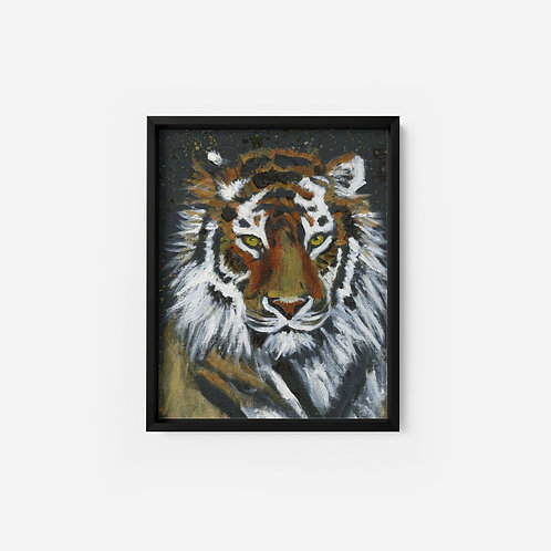 Black Tiger - Oil - 9x12