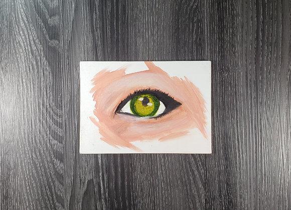 Green Eyed Beauty - oil - 5x7