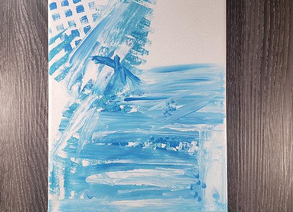 Blue Abstract - Acrylic - 9x12