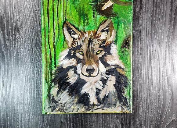 Wolf Spirit - Oil Painting - 8x10