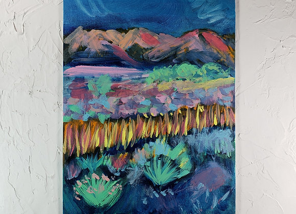 Fluorescent Landscape - Oil - 9x12