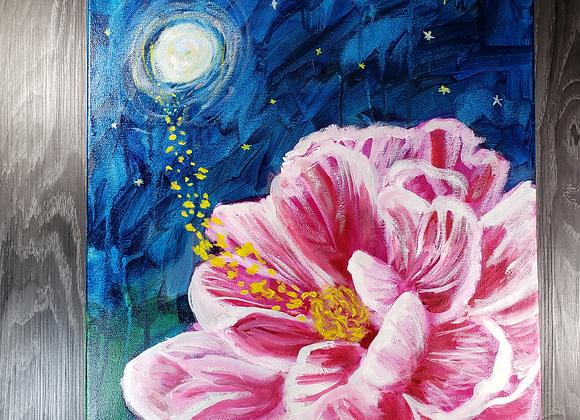 Midnight Flower - Oil - 16x20