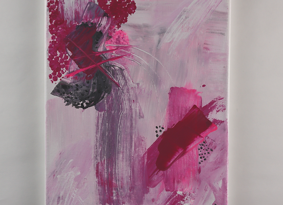 Pink Abstract - Acrylic - 9x12