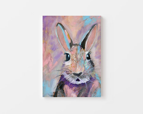 Bunny Oil Painting