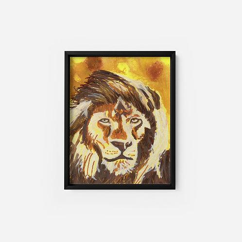 Lion - Acrylic - 5x7
