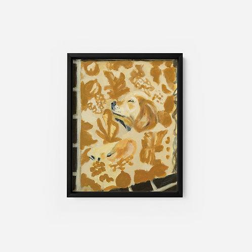 Pet Portrait - Commission - 9x12 - Oil Framed