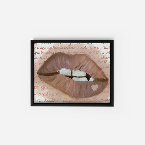 Lips - Oil - 5x7