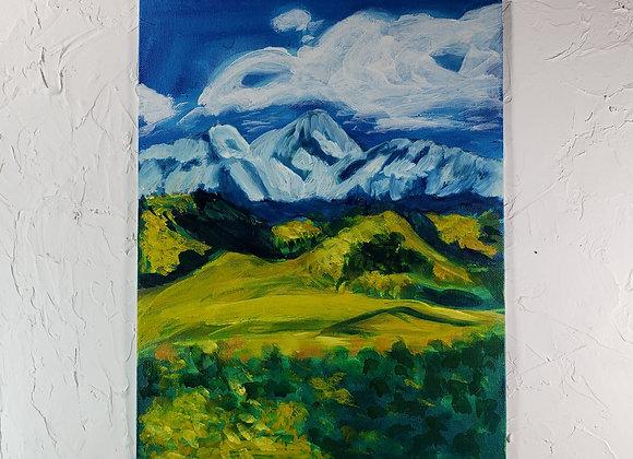 Yellow Field Landscape - Oil - 9x12
