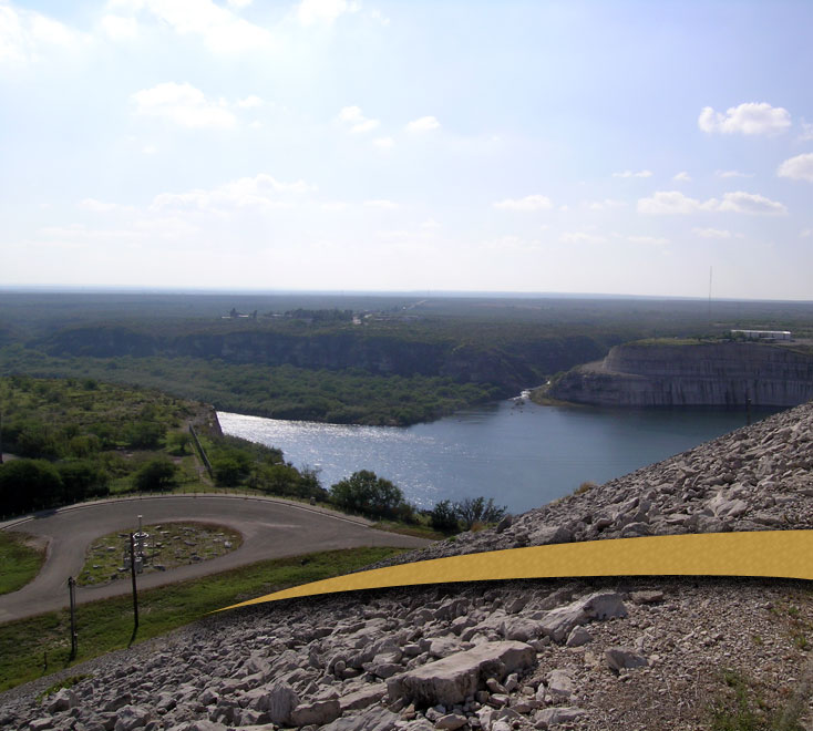 Arched Ramp, Dam