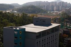 성베드로 학교 지붕(저경사 경량지붕으로 완벽방수)