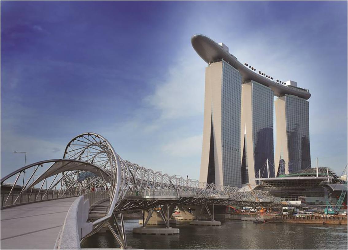 Marina Bay Sands Resort(마리나 베이샌즈 리조트) 위치 싱가포르 Silver Metalic, White, SCM