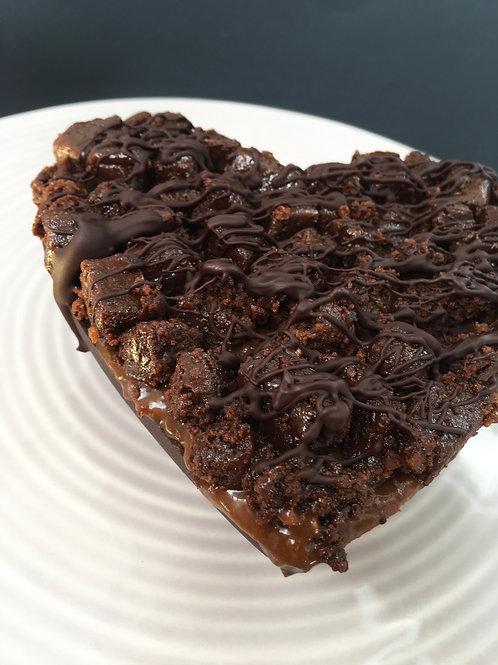 Coração de Doce de Leite Fit, Brownie e Brigadeiro Cremoso