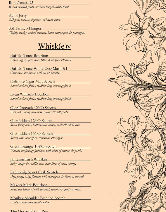 Drinks menu page 12