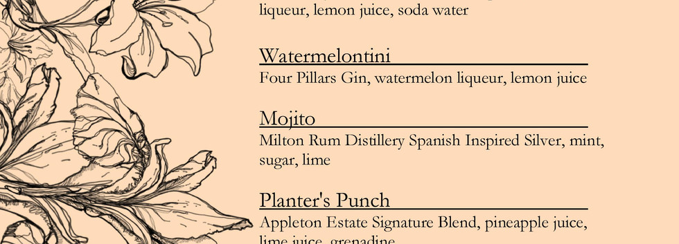 Drinks menu page 3