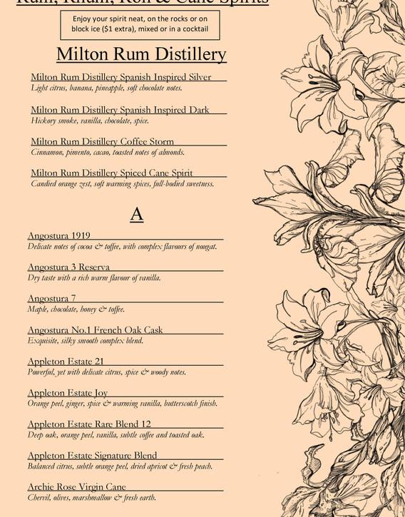 Drinks menu page 6