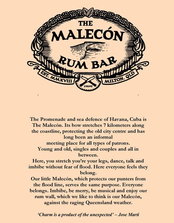 Drinks menu page 1