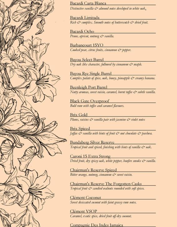 Drinks menu page 7