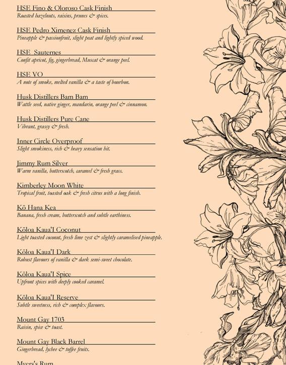 Drinks menu page 10