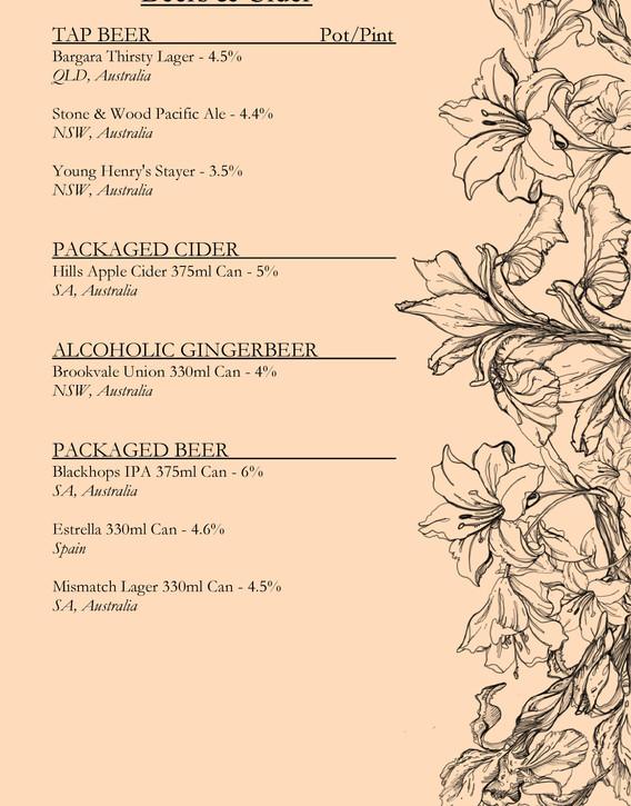 Drinks menu page 4