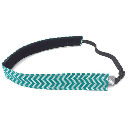 Teal and Silver Chevron