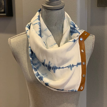 White Washed Chambray Snappie Scarf