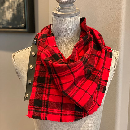 Red and Black Plaid Snappie Scarf