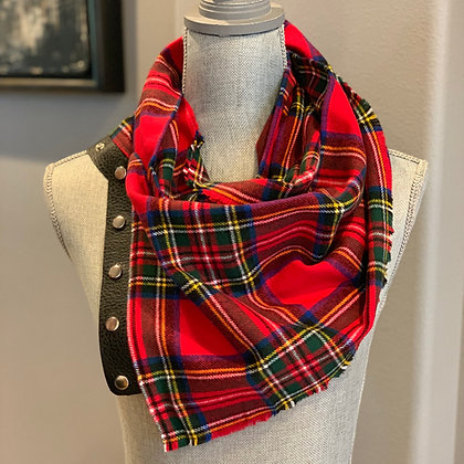 Red Classic Plaid Snappie Scarf