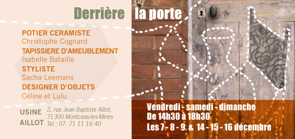 """Les objets curieux Quatre & trois 7 sont """"Derrière la porte"""" en décembre..."""