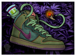 SB Dunk High 420 Skunks