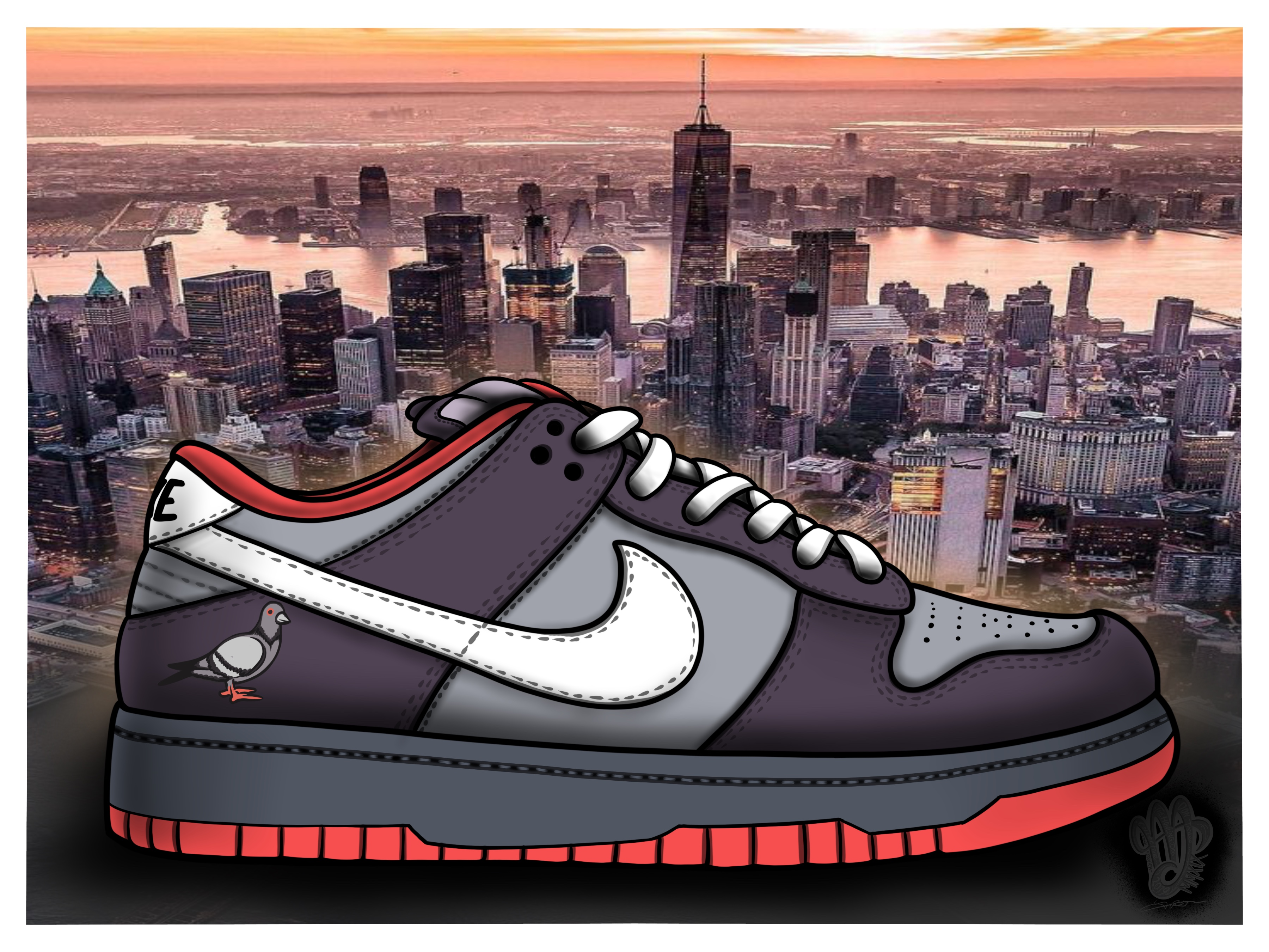 SB Dunk Low Staple Pigeon