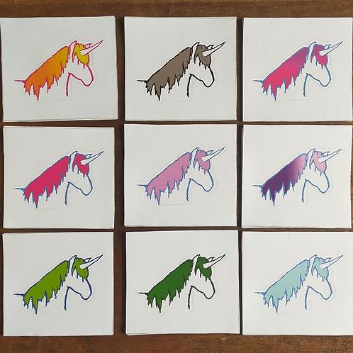 Unicorn Vinyl sticker.