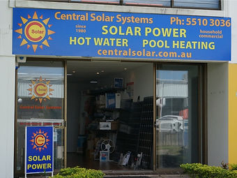central solar systems shop front office gold coast