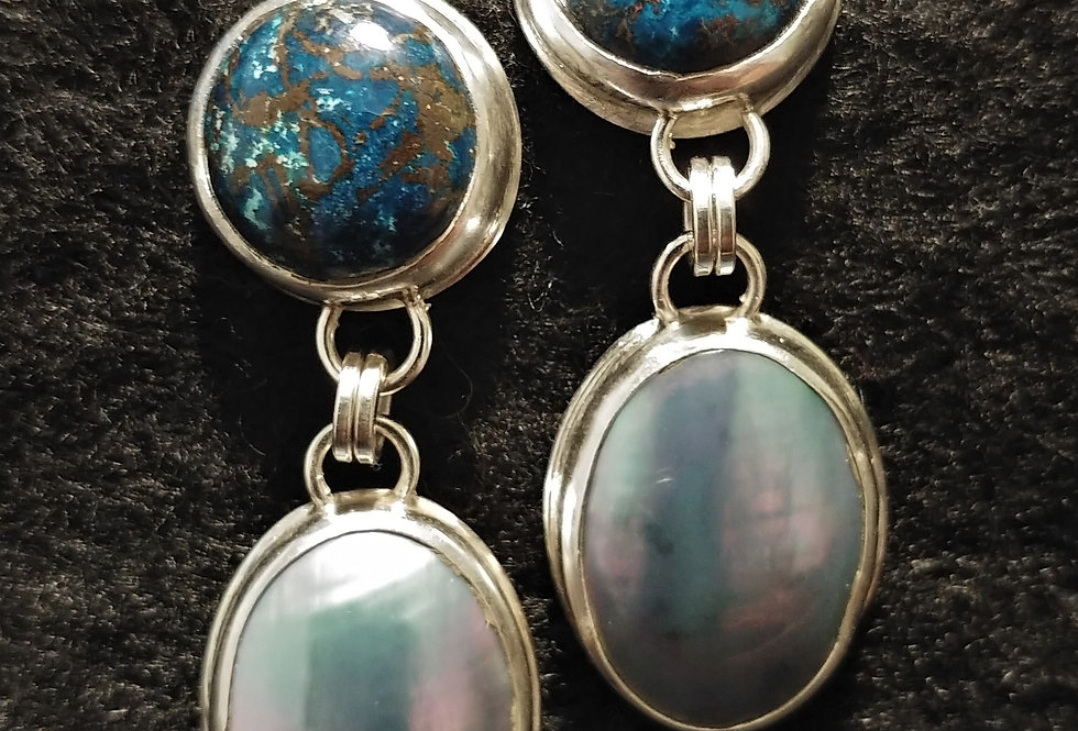 Chrysocolla & Mabe Pearl