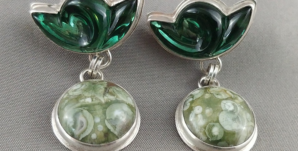 Vintage German glass & Rhyolite