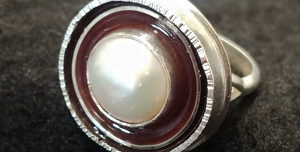 Silver, Pearl & Resin
