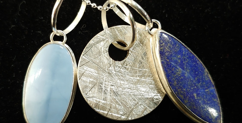 Lapis & Blue Opal Pendant Cluster