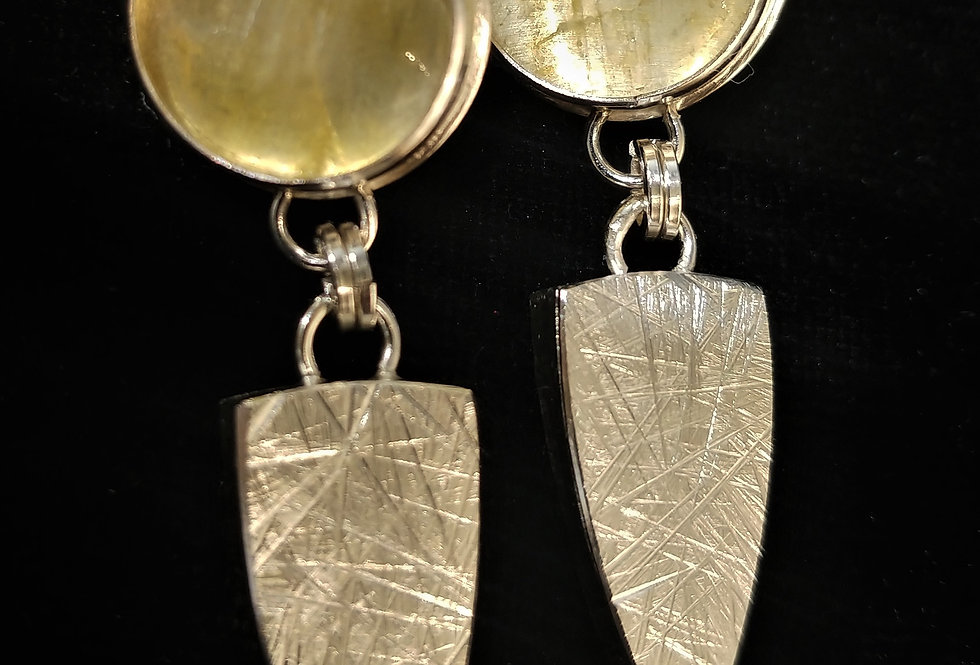 Sterling & Yellow Quartz