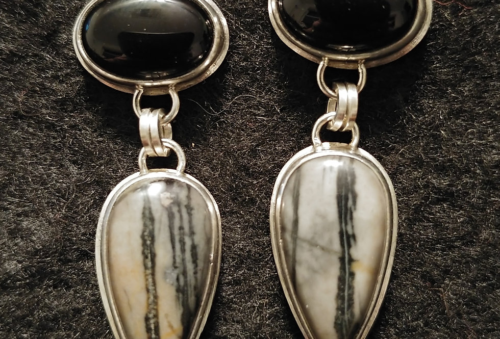 Picasso Marble & Black Agate