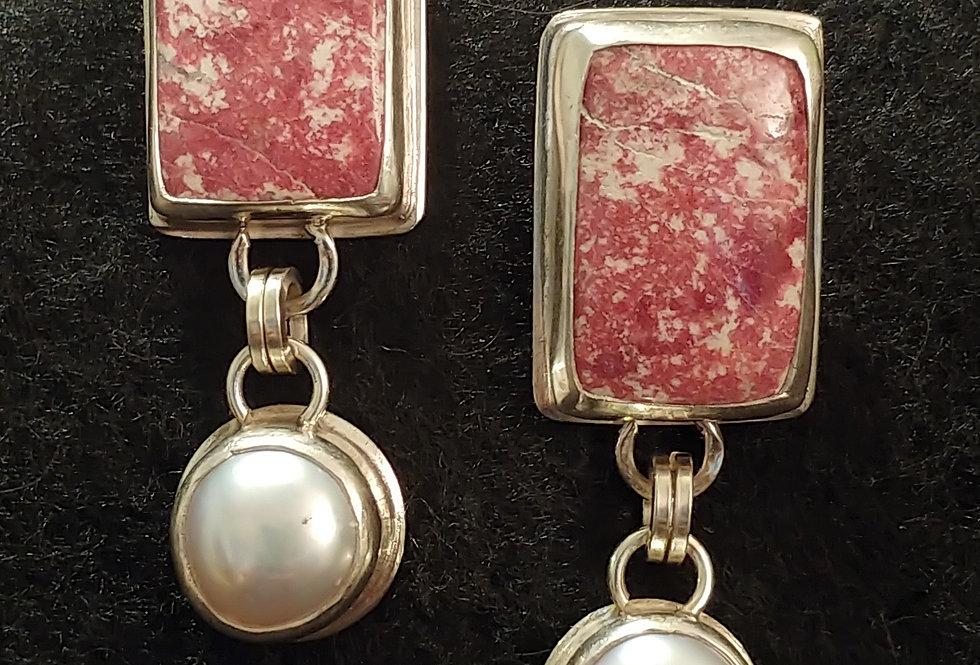 Thulite & Pearls