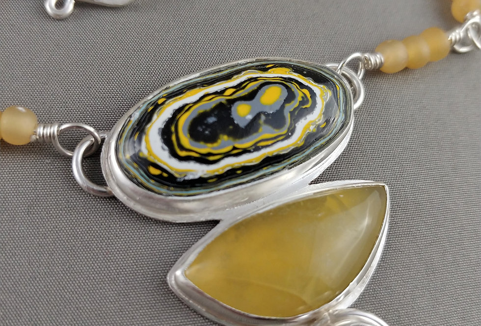 Fordite & Yellow Opal