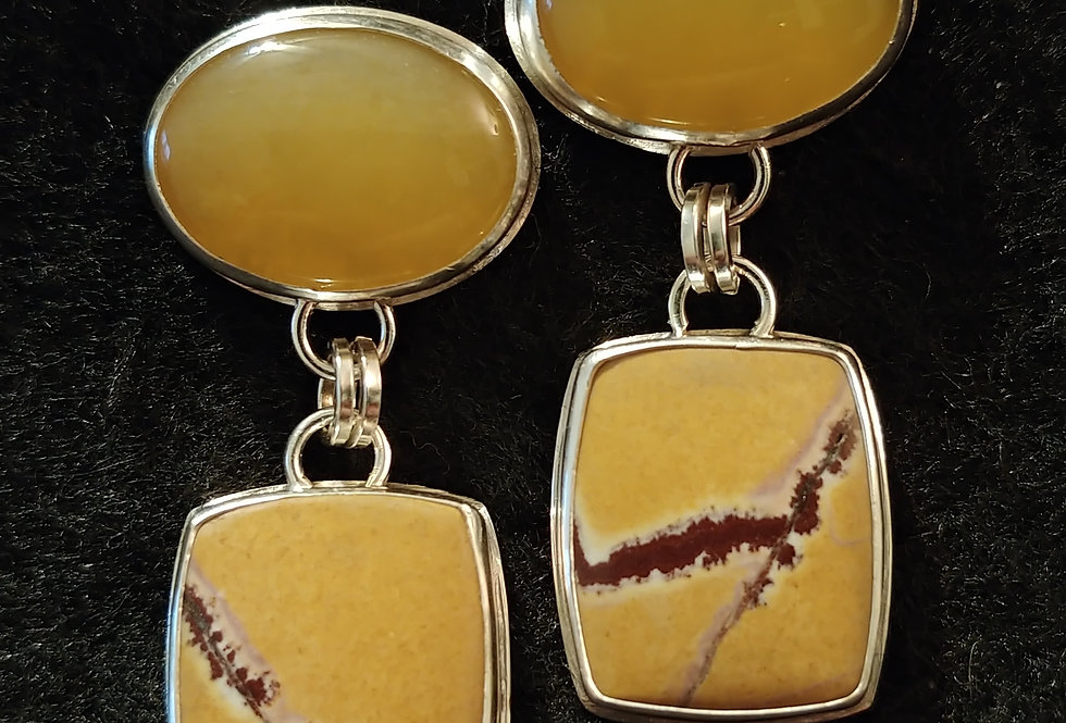 Sonoran Dendritic Jasper & Yellow Opal