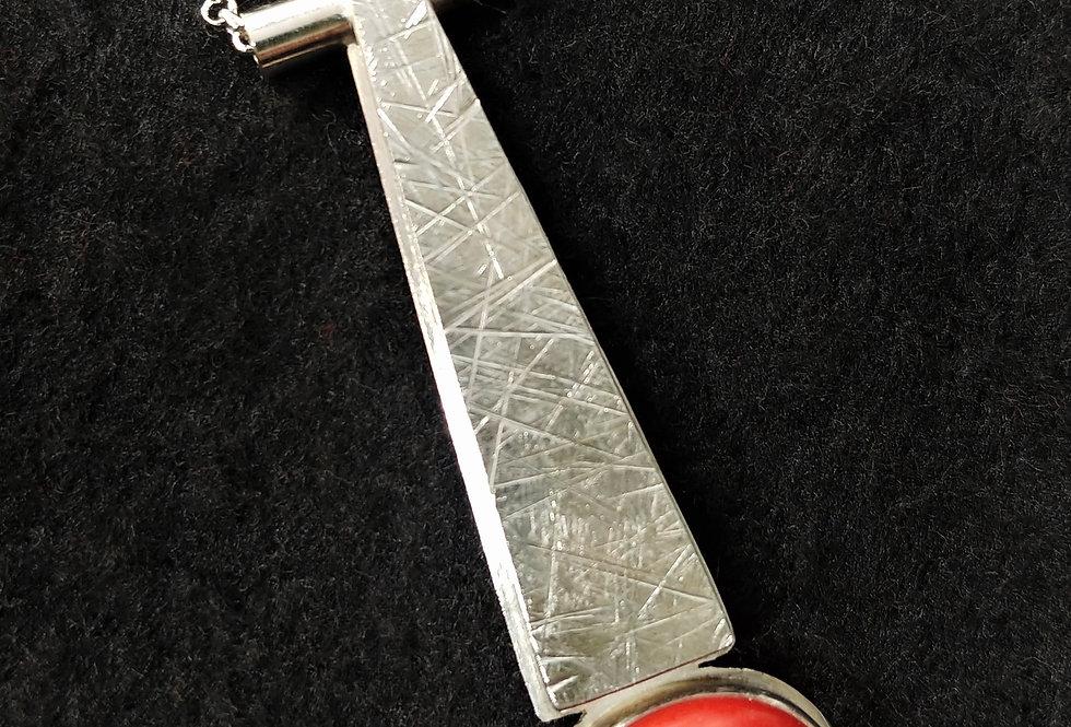 Silver & Coral Pendant