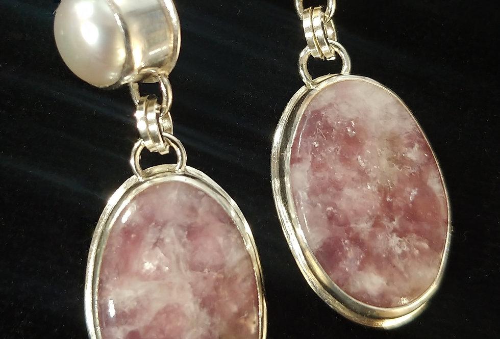 Lepidolite & Pearl