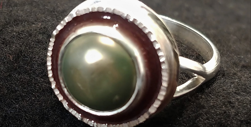 Silver, Pearl & Resin II