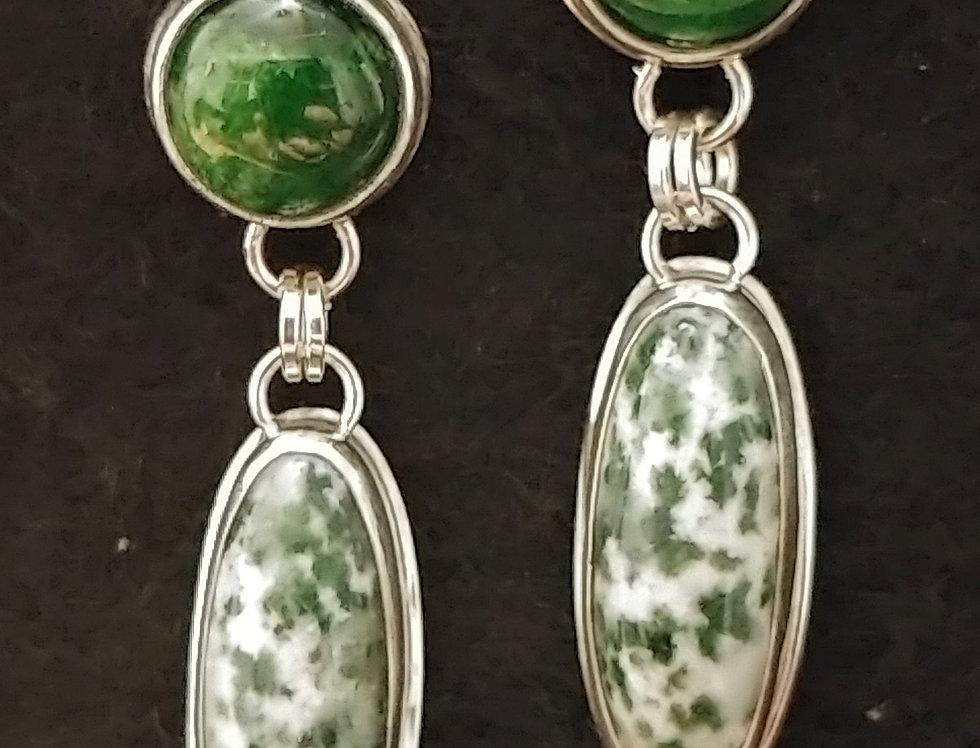 Green Jasper & Chrome Diopside