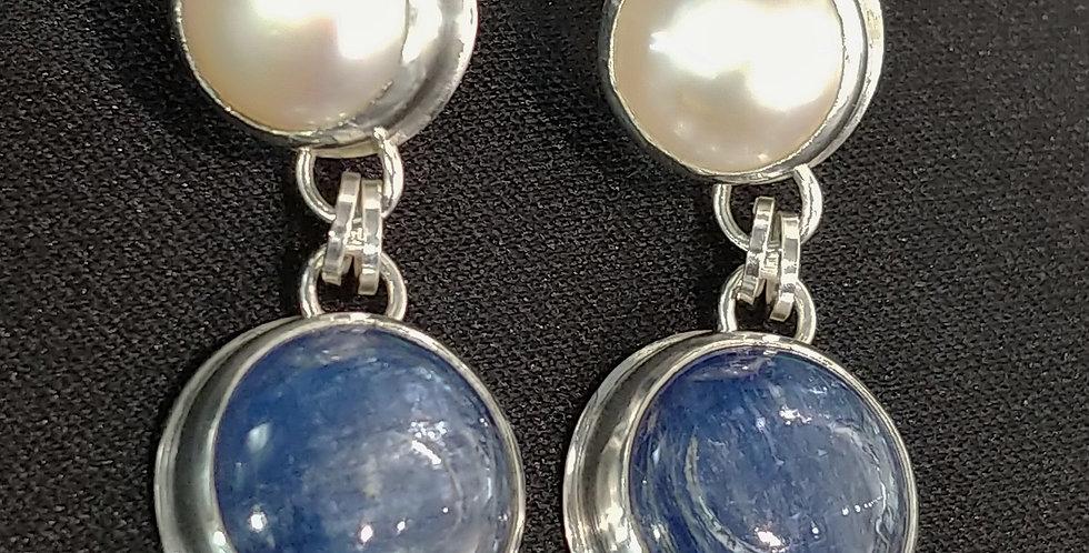 Kyanite & Pearls II