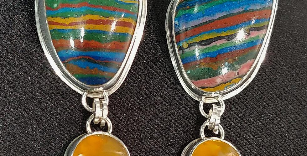 Rainbow Calsilica & Yellow Opal